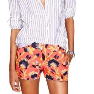 J. Crew Hibiscus Shorts